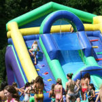 Camp inflatable water slide