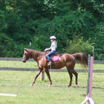 Horse camper girl ridng equeswtrian