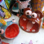 Camp kids pottery projects