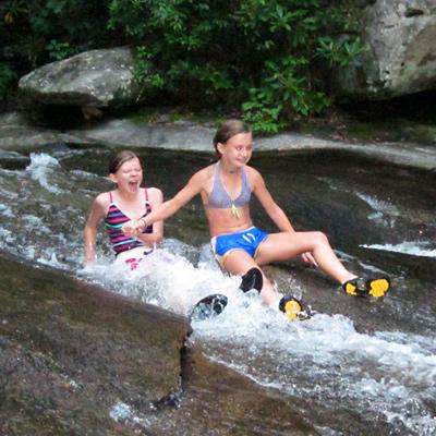 Middler camps go to sliding rock trip