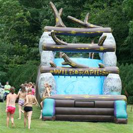 Camp carnival water slide girls