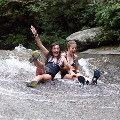 Camper Girls Sliding Rock