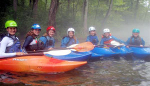 girls summer camps kayaking trip