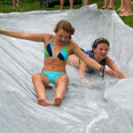 Girls Camps Slip and Slide fun