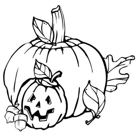 Fall Pumpkin Coloring Project