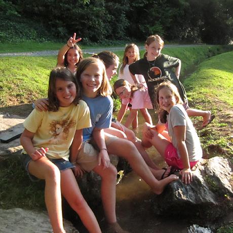 Camp Kids Creek Playing