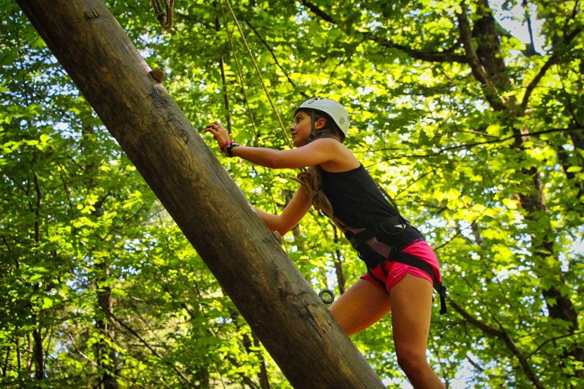 teen girl grows climbing