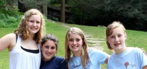 Girls Make Friends at Summer Camp