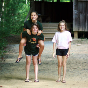Girls Move Outside at Camp