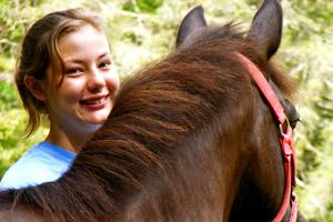 Happy Equestrian Camp Girl