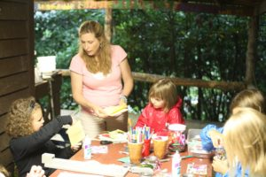 making paper at summer camp