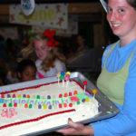 Birthday cake at summer camp