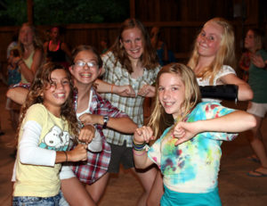 Camp Dance with girls and boys camps