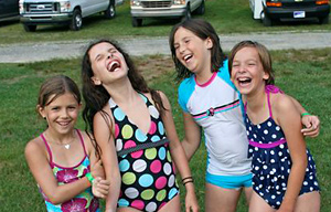 Camp Girls Cracking Up