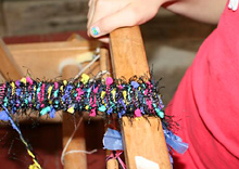 yarn loom weaving project