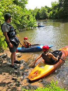 camper kayak trip