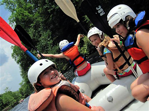 Whitewater Rafting Fun for Kids