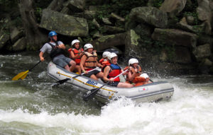 Camp rafting down the Nantahala falls