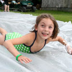 Camp girl slip-n-slide
