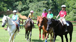 Campers Riding Horses at Rockbrook