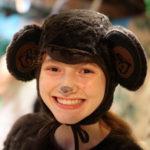 Banquet camper dressed in monkey costume