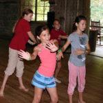 girls learning modern dance at summer camp