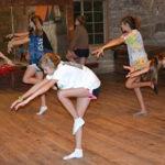 Summer camp girls dancing
