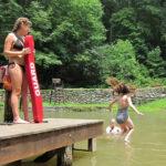 camper swimming test