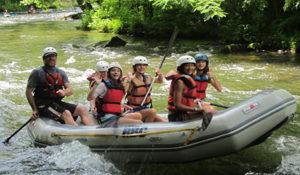 Girls camp rafting the Nantahala river