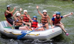 Camp Girls Rafting the Nantahala River