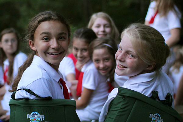 Campers at Girls Summer Camp