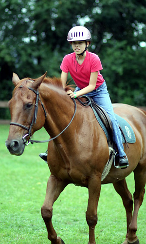 Camp horseback riding