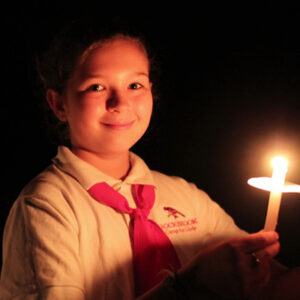 Girl Holding Spirit Fire Candle