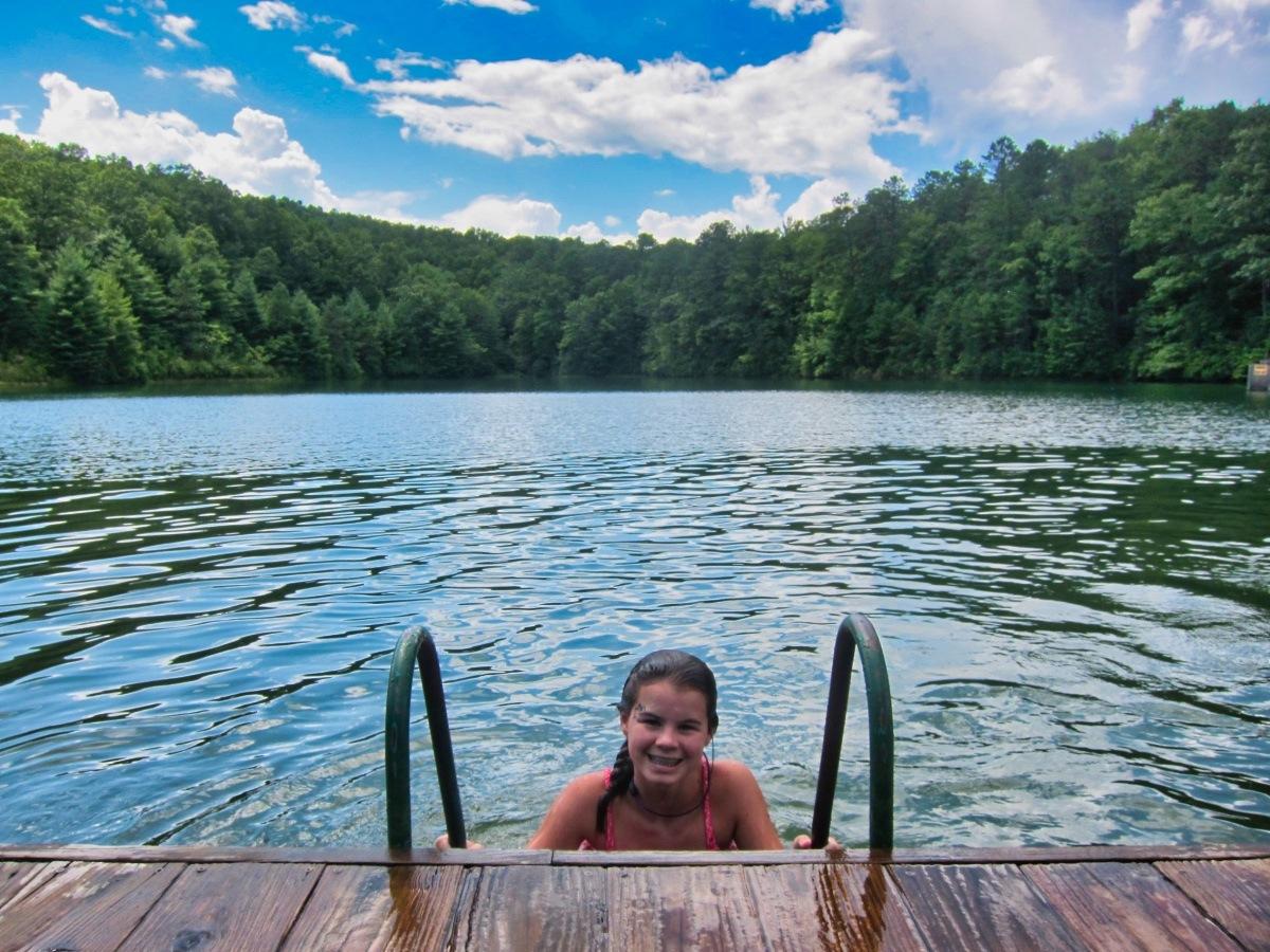 Camp Lake Swimming