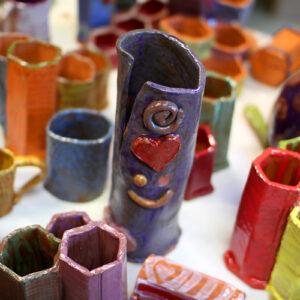 extruded pottery and glazed ceramics