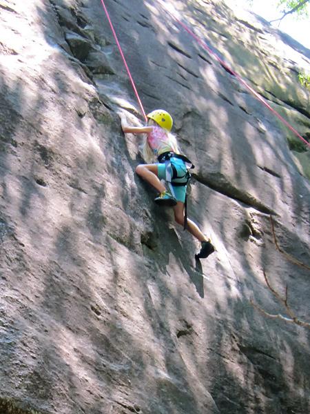 Kid Adventure Rock Climbing