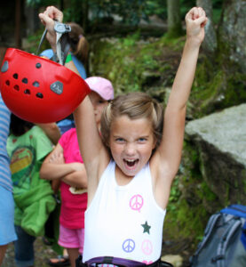 Excited Camp Kid