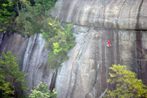 Rock climber taken from helicopter