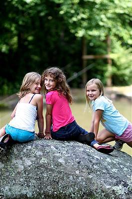 Girls loving summer at camp