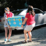 moving a camper's trunk on the first day of camp