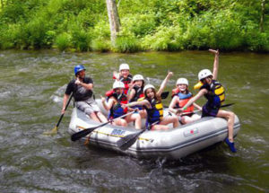 Rockbrook campers whitewater rafting trips