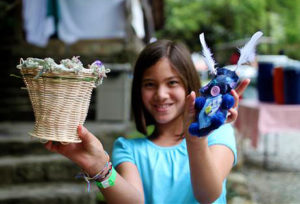Craft projects made at summer camp