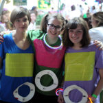 Summer camp girls dressed as iPods