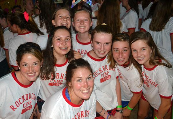 Rockbrook girls in RBC t-shirts