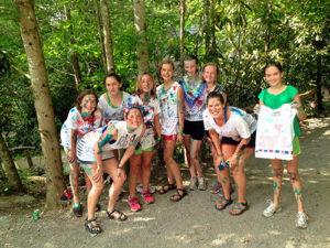 Cabin girls splatter paint shirts
