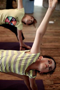 Summer camp yoga class
