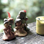 Clay playdough figures for photography