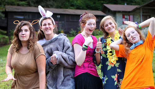 Camp girls dress up in Disney clothes