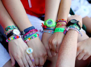 Camp girls many bracelet arms