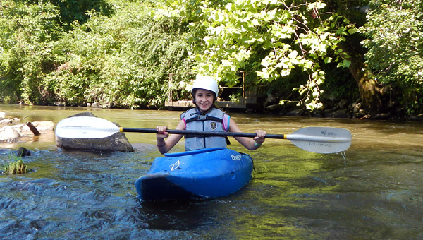 Summer Camp Girl Kayaking